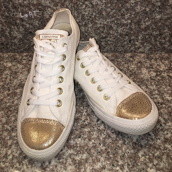 Converse Shoes - CONVERSE ALL STAR WHITE GOLD Sparkle Shoes 542447F 9a52d23c4