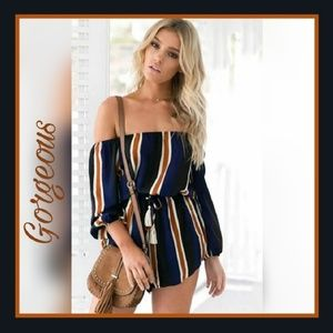 boutique Pants - 🌴🌞🌴 Gorgeous striped jumpsuit/romper shorts