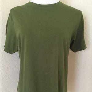 Cotton T shirt Army green T shirt short sleeves