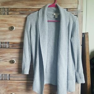 LOFT Sweaters - Gray knit cardigan
