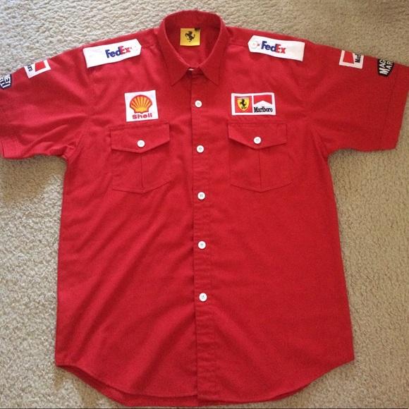 f1 team shell ferrari pit crew shirt xl from r 39 s closet on poshmark. Black Bedroom Furniture Sets. Home Design Ideas