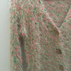 36 Point 5 Sweaters - Fuzzy Cute Long-sleeve Cardigan