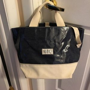 Handbags - Coated denim tote