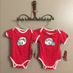 Bumkins Other - Twin Dr. Seuss onsies