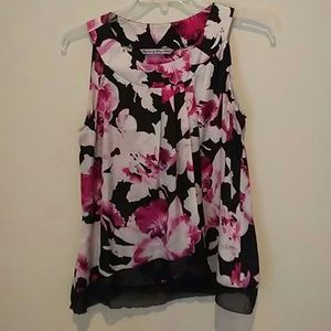 ❤ $3/$20 signature by Larry Levine flowy silk top