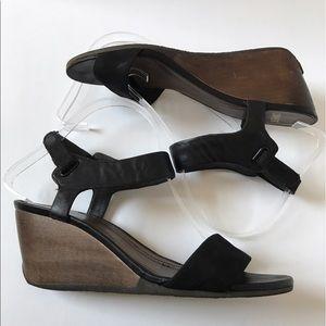 Camper Shoes - Black Camper Laura Wedge Sandals