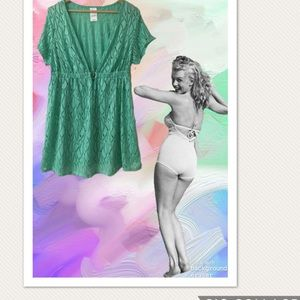 Catalina Mint Green Lace Swimsuit Cover