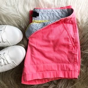 J. Crew Pants - J. Crew Neon Hot Pink Coral Chino Shorts