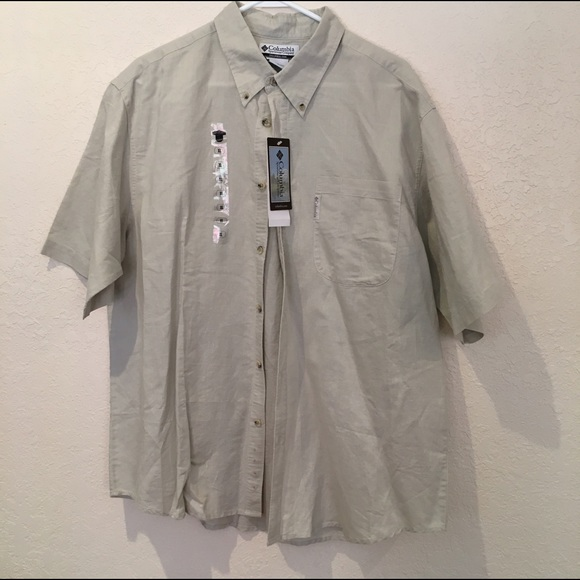 67 Off Columbia Other Columbia Tan Short Sleeve Button