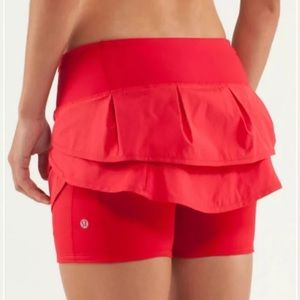 lululemon athletica Other - Lululemon speed squad skirt skort size 6 red
