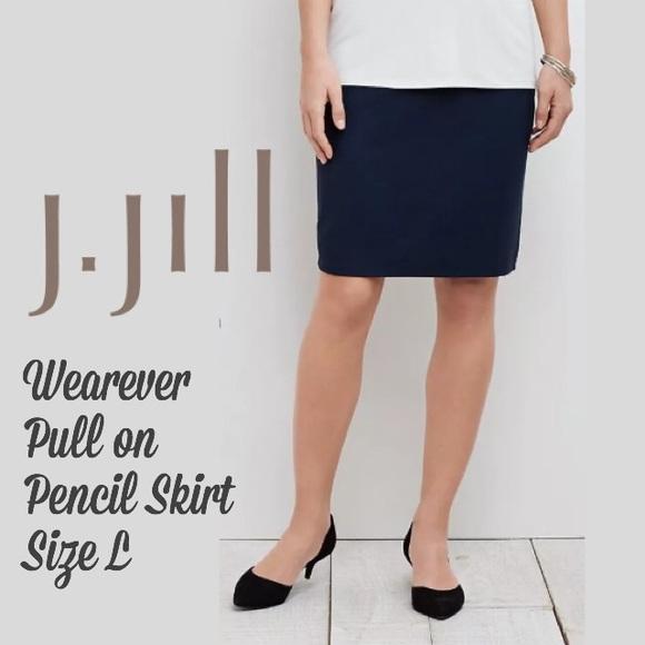 074f34b382 J. Jill Skirts | Nwt J Jill Pull On Pencil Skirt In Navy Blue | Poshmark