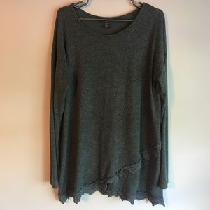 A Pea in the Pod Sweaters - A Pea in the Pod medium grey light weight sweater