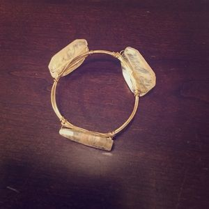 Bourbon and Bowties Accessories - Bourbon and Bowties Lookalike Tan Stone Bracelet