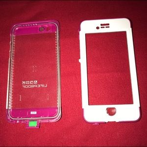 LifeProof Accessories - Pink/White iPhone 6/6s Life Proof case