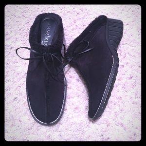 Anne Klein Shoes - Anne Klein soft Suede Mules