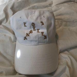 White Los Angeles Hat