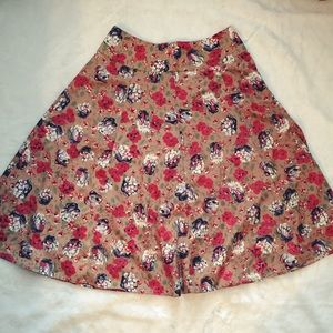 Adrienne Dresses & Skirts - 🎀 Lovely A-line floral skirt. Small
