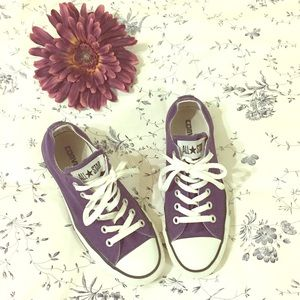 Converse purple All Stars sneakers size 7