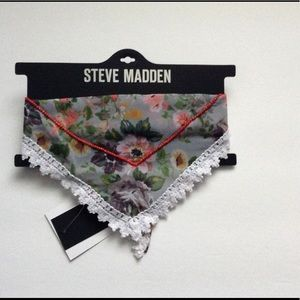 Steve Madden Accessories - NWT Floral Scarf with Beading Detail (Gray)