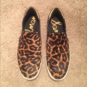 Fierce Sam Edelman cheetah print slip on sneakers