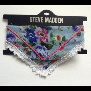 Steve Madden Accessories - NWT Floral Scarf with Beading Detail (Blue)