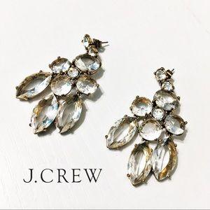 J. Crew Jewelry - J. Crew Clear Chandelier Earrings