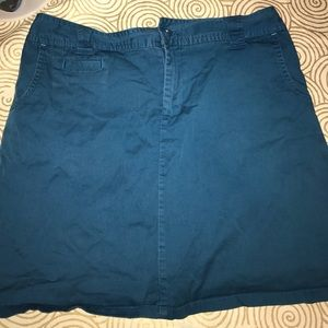 White Stag Pants - Size 10 white stag teal blue skort -skirt w/shorts