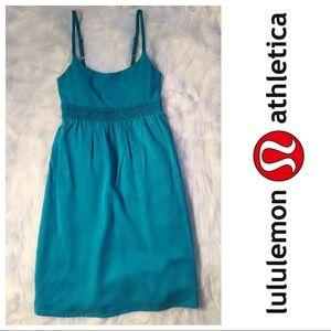 lululemon athletica Dresses & Skirts - Lululemon Bliss tank dress in teal