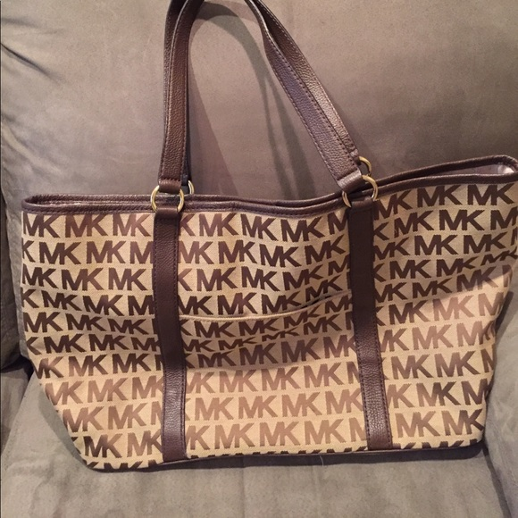 76% off Michael Kors Handbags - Tan Michael Kors Tote with ...
