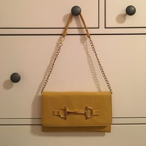 Yellow Clutch Purse with Removable Strap (Mud Pie)