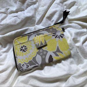 Vera Bradley Handbags - Vera Bradley gray yellow print Wallet