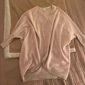 Halogen 100% Cashmere Cocoon Cardigan (one size)