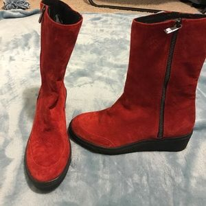 Ilse Jacobsen Shoes - Ilse Jacobsen Ruby 401 Wedge Boots Suede Ankle
