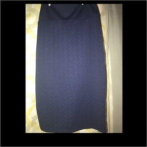 LuLaRoe Dresses & Skirts - LulaRoe Navy Cassie Pencil Skirt