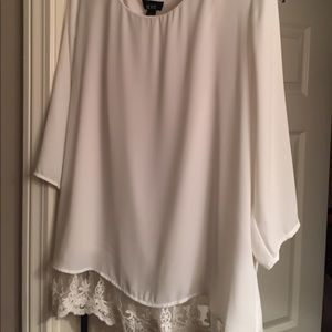 Women's Medium, White Dress top/Blouse