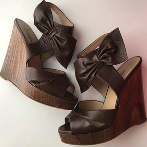 Valentino Garavani Shoes - Valentino Bow Wedges