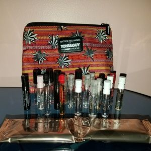 Travel Pouch with Perfume Samples