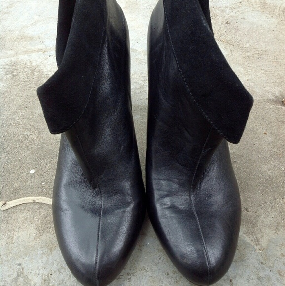 98 coach shoes coach black suede ankle boots size