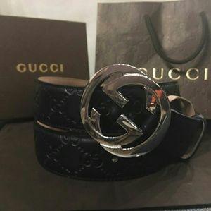 Gucci Other - New Gucci black signature supreme belt
