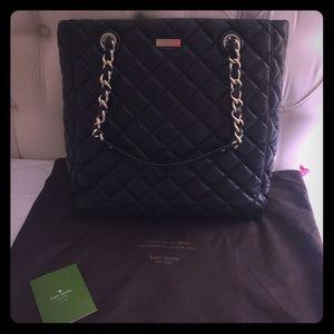 kate spade Handbags - Kate spade bag.  Black and silver.