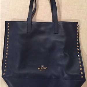 Valentino Handbags - Valentino Rockstud Shopping Tote Bag