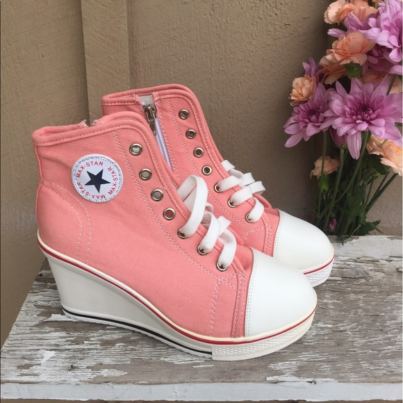 58e6343835da Converse Shoes - Pink Converse Wedges