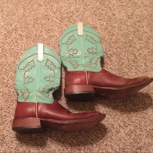 Women S Brown And Teal Cowgirl Boots On Poshmark