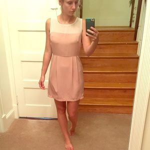 Classy forever 21 rose pink dress and cream top