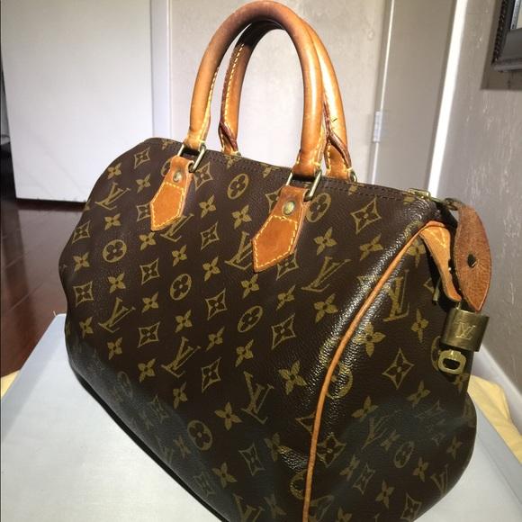 Louis Vuitton Bags   Authentic Lv Speedy 30 Free Lock And Key   Poshmark c24d0aa532