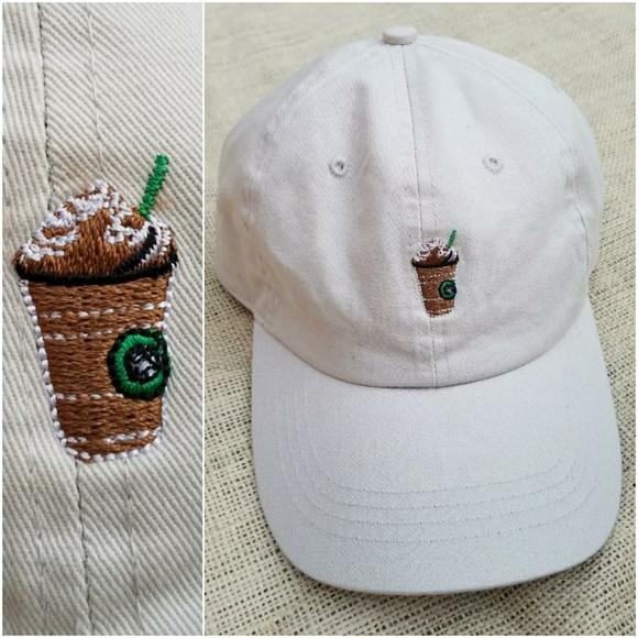 Frappuccino Starbucks Dad Cap Baseball Hat Emoji 108cdb656c92