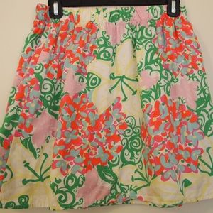 Lilly Pulitzer Floral Mini Skirt Small