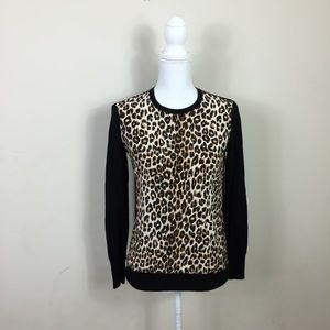 {Equipment} Silk Leopard Sweater