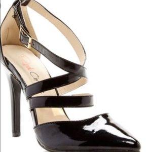 Black Strappy Patent Leather Heels. BNIB! NEW!