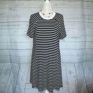 Abercrombie & Fitch Black and White Stripes Dress